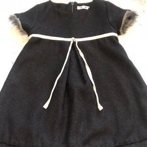 Other - Faux fur trim dress 3t